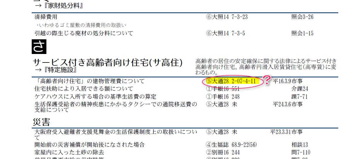 生活保護通知・通達総索引2016、若干の修正(ver1.01)