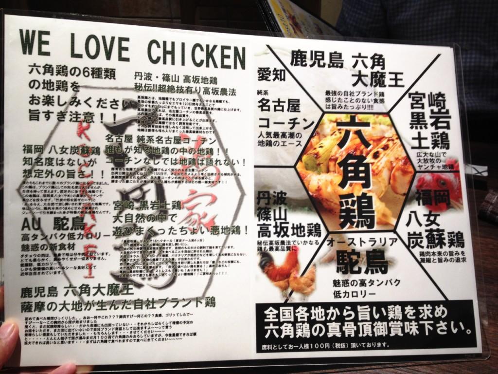 店の名の由来の6種類の鶏