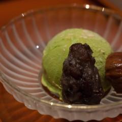 抹茶と小豆のアイスクリーム