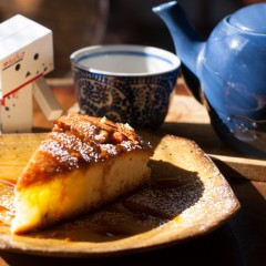 デザート(胡桃とメイプルのケーキ)