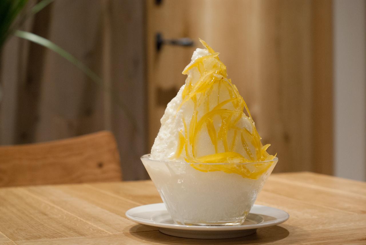 かき氷 レモンヨーグルト