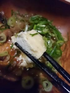 塩麹豆腐と甘辛モツ煮