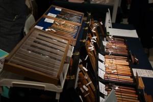 木製軸の万年筆