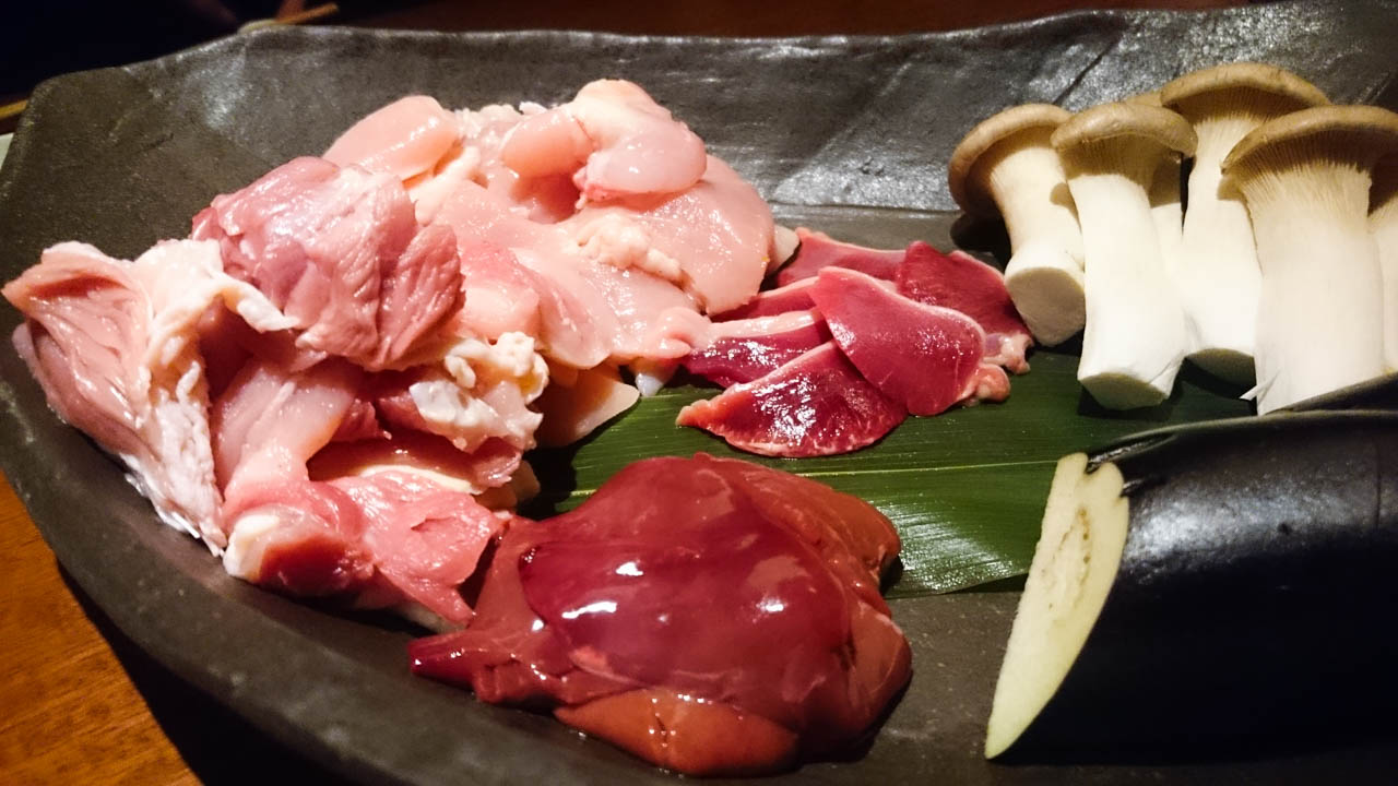 軍鶏素焼き・焼き野菜