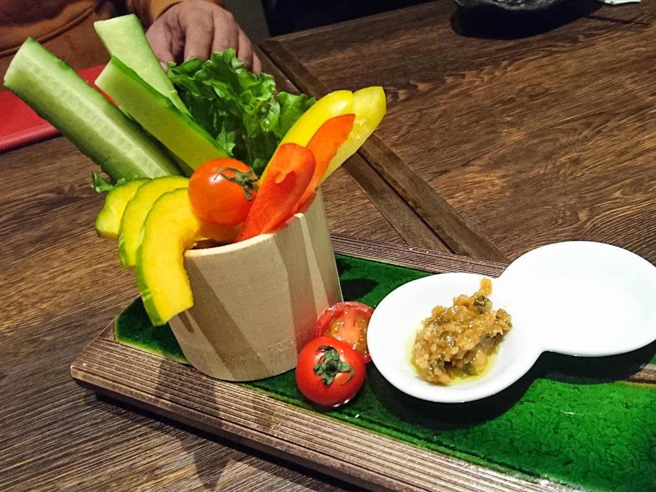 旬野菜のお造り仕立て