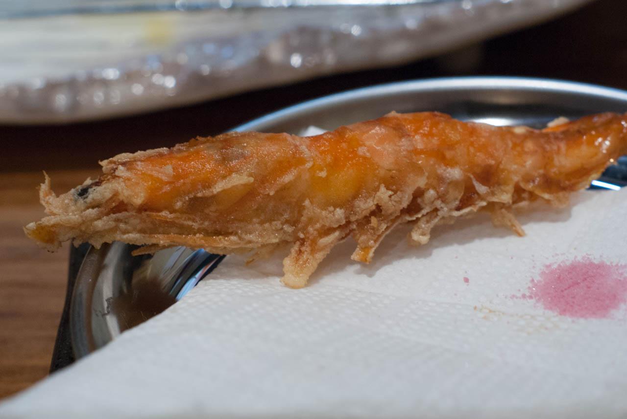 丸ごと食べる有頭海老