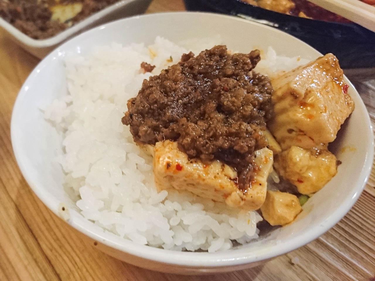 スパンキー麻婆豆腐+キーマカレー