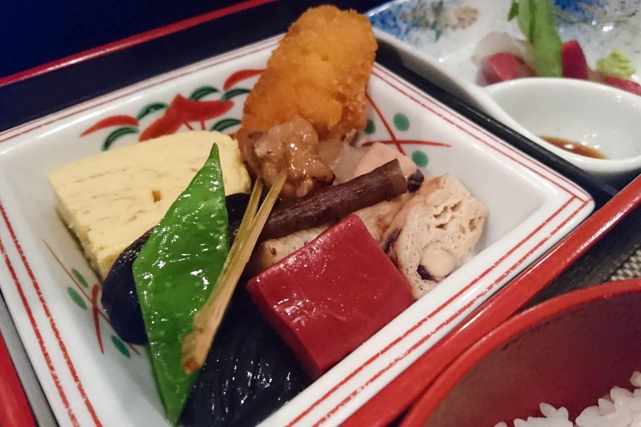 松花堂弁当にプラス一品。和ときどき……洋食?@堺筋本町「和食時々フレンチ貴」