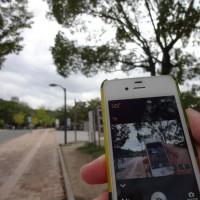 撮影しているiPhoneを撮影できます