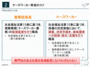 2.ケースワーカー育成のコツ