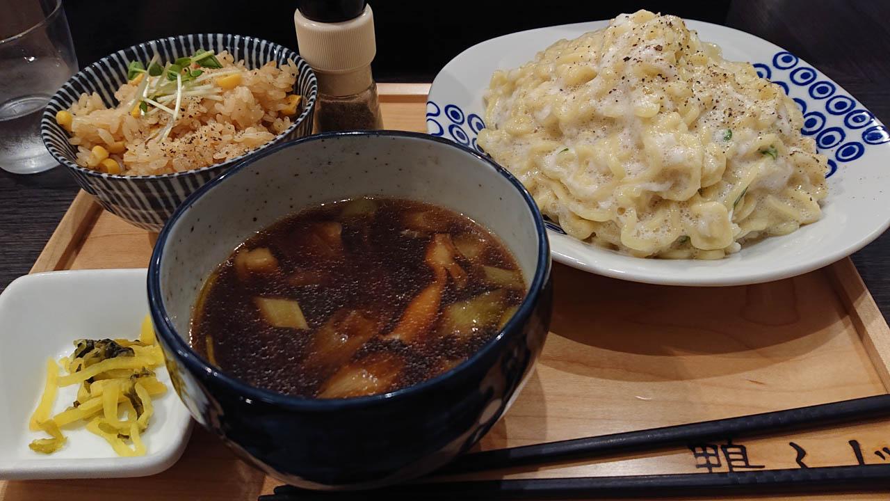 鴨のうまみの和風つけ麺でお久しぶりの武士唐を@天満「鴨ふじ」